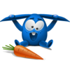 Blue Rabbit Icon (1) Image